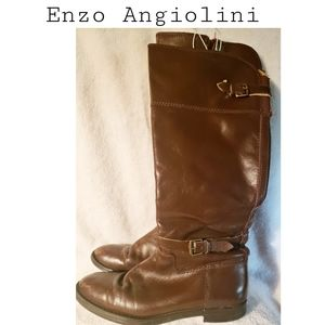 Enzo Angiolini brown tall boots. Sz 6 1/2